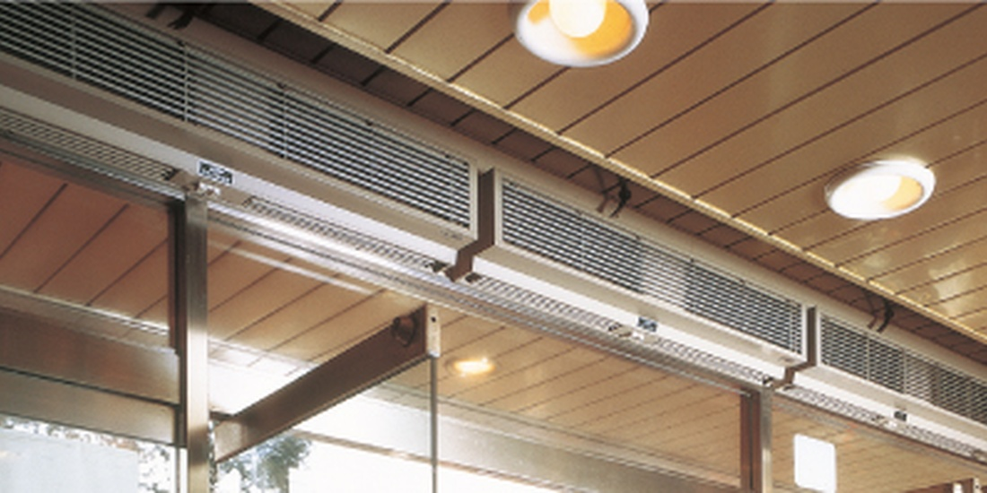 Air curtains for clean and healthy indoor spaces